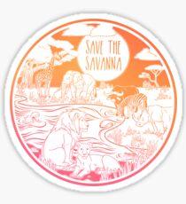 Save the Savanna! Sticker