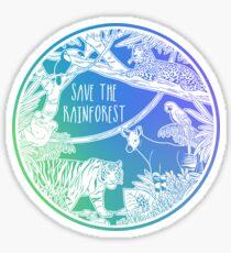Save the Rainforest! Sticker