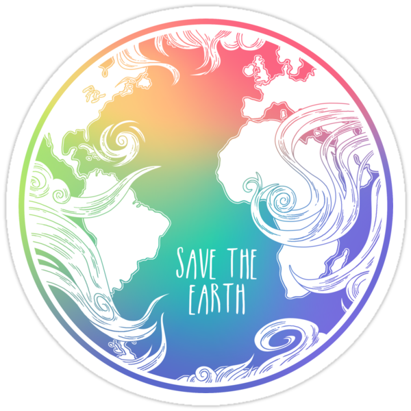 Quot Save The Earth Quot Stickers By Hannah Diaz Redbubble