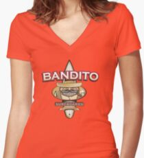 Bandito Surfboards Women's Fitted V-Neck T-Shirt