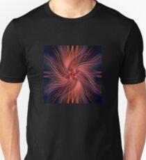 Flowing spiral - ruby Unisex T-Shirt