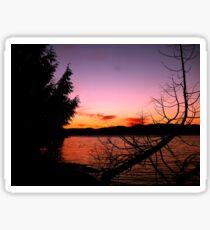 Vancouver Island Sunset Sticker