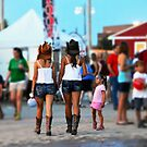 Girlfriends at the County Fair by Catherine Sherman