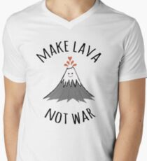 MAKE LAVA NOT WAR Men's V-Neck T-Shirt