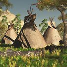 Three Tipis by Walter Colvin
