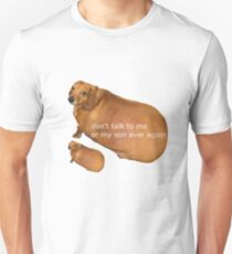 Don't talk to me or my son ever again - geek Slim Fit T-Shirt