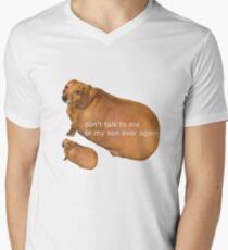 Don't talk to me or my son ever again - geek Men's V-Neck T-Shirt