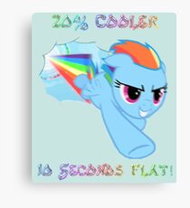 Rainbow Dash 20% Cooler Canvas Print