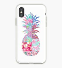 Lily Pulitzer patch pineapple iPhone Case