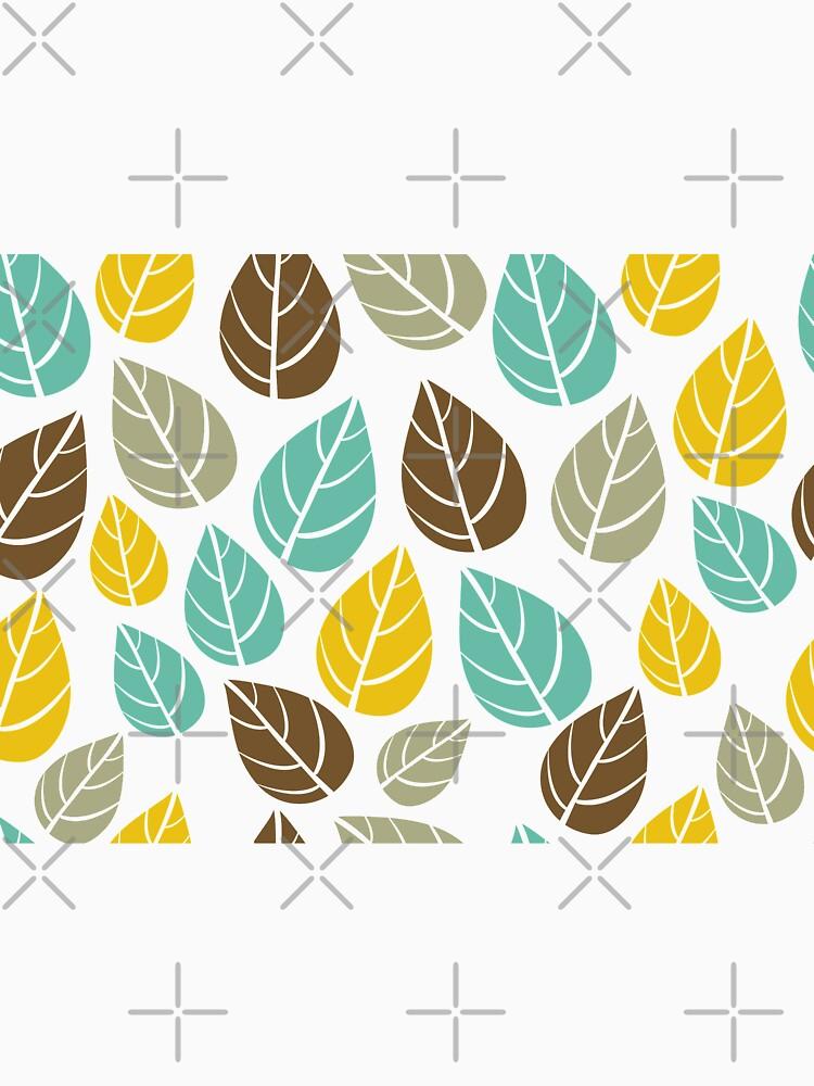 Stylized Colorful Pastel Tones Fall Leafs Pattern by artonwear