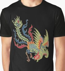 Chinese Rooster Asian Art Graphic T-Shirt