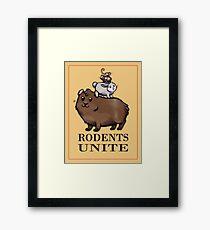 Rodents Unite! Framed Print