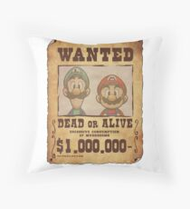 WANTED Brothers  Throw Pillow