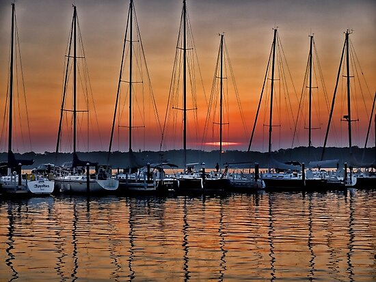 Marina Sunset - Erie, PA by Kathy Weaver