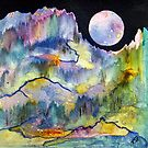 World Series C-3 Night Moon by ksgfineart