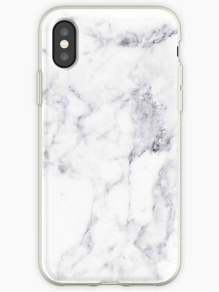 white marble iphone xs case