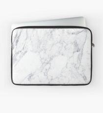 White Marble Laptop Sleeve