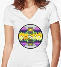 Front and back trip Women's Fitted V-Neck T-Shirt