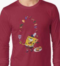 Spongebob and Krabby Patties Long Sleeve T-Shirt
