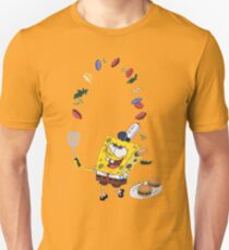 Spongebob and Krabby Patties Slim Fit T-Shirt