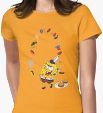 Spongebob and Krabby Patties Women's Fitted T-Shirt