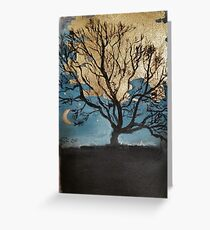 The witching hour moon Greeting Card