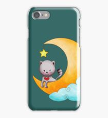 Cat on the moon iPhone Case/Skin