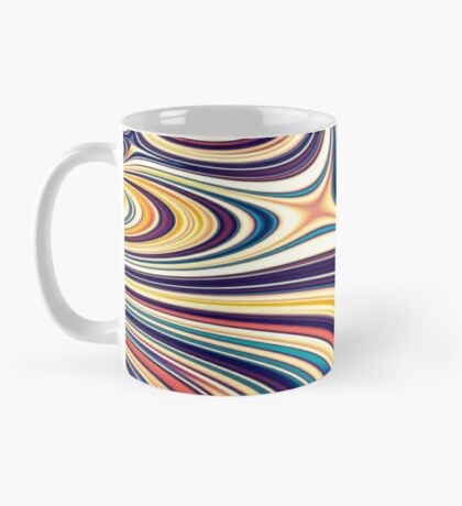 Color and Form Abstract - Curved Rounded Lines Flowing  Mug