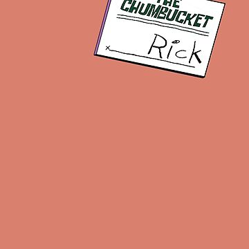 Rick Nametag - Spongebob by LagginPotato64