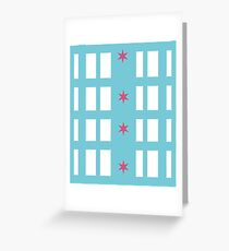 Chicago Remix Building Greeting Card