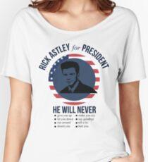 Rick Astley para presidente Camiseta ancha