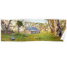 Wallace Hut Dawn, Falls Creek, Victoria, Australia Poster