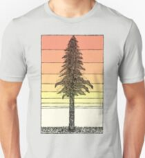 Coastal Redwood Sunset Sketch Unisex T-Shirt