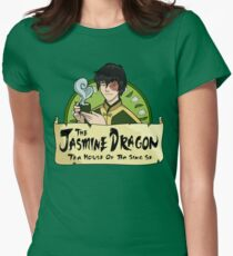 The Jasmine Dragon Tea House - With Prince Zuko Women's Fitted T-Shirt