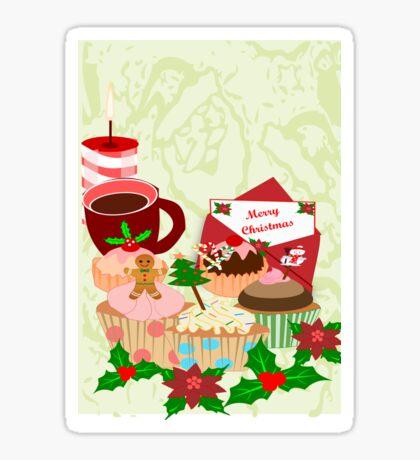Christmas Cup Cakes (2985 Views) Sticker