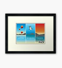Pelican balloon graphic Framed Print