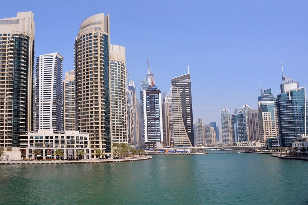 Buildings from Dubai Marina skyline. UAE. by oanaunciuleanu