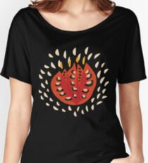 Abstract Red Tulip Flower In Spring Women's Relaxed Fit T-Shirt