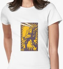 Purple Robot Womens Fitted T-Shirt