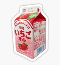 Real Food: Strawberry Milk Sticker