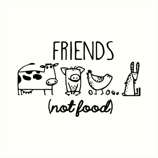 Animal Rights Rescue Friends Not Food by sellymeggan