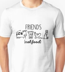 Animal Rights Rescue Friends Not Food Unisex T-Shirt