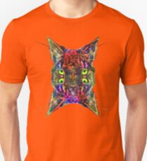 Artificial neural style Space galaxy mirror cat Unisex T-Shirt