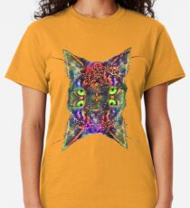Artificial neural style Space galaxy mirror cat Classic T-Shirt