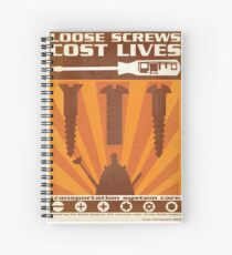 Time War Propaganda II Spiral Notebook