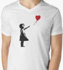 Banksy - Girl with Balloon Men's V-Neck T-Shirt