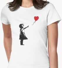Banksy - Girl with Balloon Women's Fitted T-Shirt