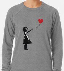 Banksy - Mädchen mit Ballon Leichtes Sweatshirt