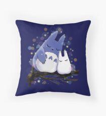 Sleepy totoros  Throw Pillow