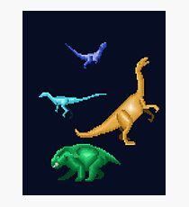Prehistoric Pixels: Triassic Photographic Print